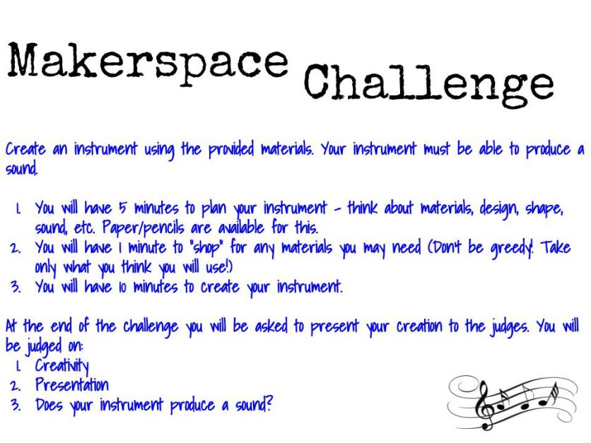 Makerspace Instrument Challenge